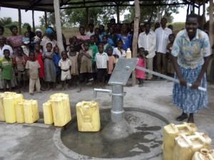 water well in Buenke village uganda