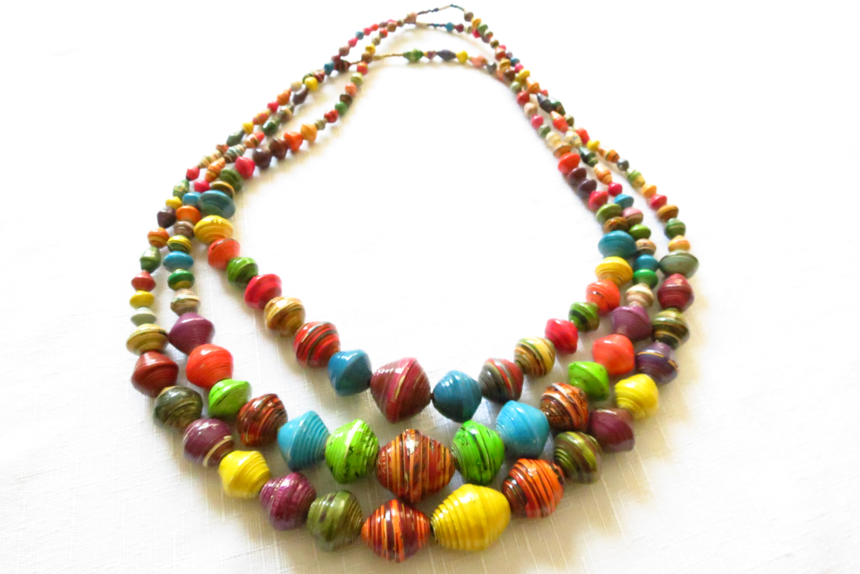 Kagwala necklace project lydia fair trade jewelry for How to make african jewelry crafts